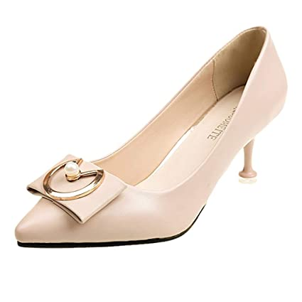 7e6f73841a6 Women 2 Inch D Orsay Heels Women Sexy Pointed Toe Boeknot Leather Stiletto  Pump Shoes