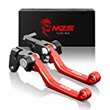 MZS CNC Pivot Brake Clutch Levers for Honda CR125R CR250R 2004-2007/ CRF250R CRF450R 2004-2006/ CRF250X 2004-2017/ CRF450X 2005-2017 (Red)