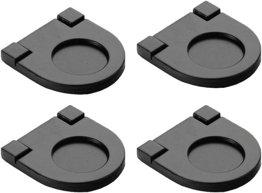 Yardwe 4 Piezas perillas de manijas de Muebles Invisibles manijas de Puerta Ocultas empotradas para cajón de Armario de Cocina (Negro): Amazon.es: Jardín