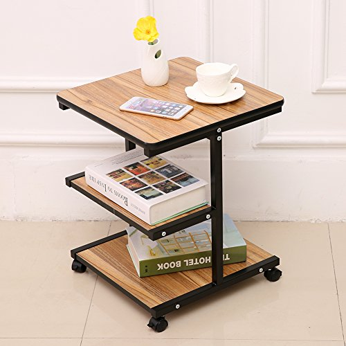 rolling side end tables night stand coffee table with. Black Bedroom Furniture Sets. Home Design Ideas