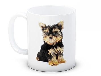 Yorkshire Terrier Perrito Perro - Taza de té café de alta calidad