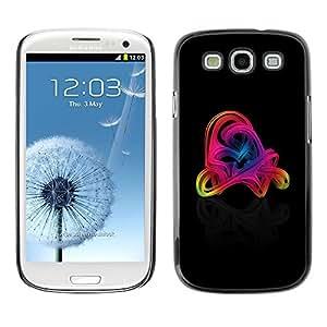 "For SAMSUNG Galaxy S3 III / i9300 / i747, S-type Remolinos coloridos"" - Arte & diseño plástico duro Fundas Cover Cubre Hard Case Cover"