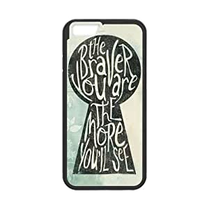 Generic Coraline Cell Phone Hard Case for iPhone 6(4.7) Plastic & TPU (Laser Technology)