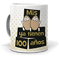 Taza Mis Huevos ya Tienen 100 años. Cerámica AAA - 350 ml.