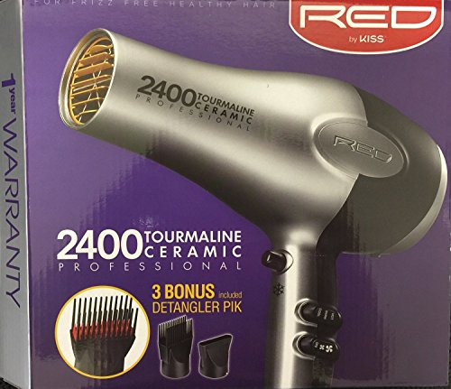 red 1900 watt hair dryer - 2