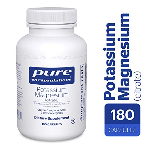 Pure Encapsulations - Potassium Magnesium (Citrate) - Hypoallergenic Supplement to Support Heart, Muscular, and Nerve Health* - 180 Capsules ()