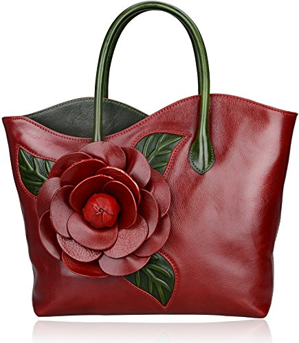 Inspired Designer Handbag Bag (Pijushi New Designer Inspired Ladies Handmade Floral Tote Shoulder Bags 8825)