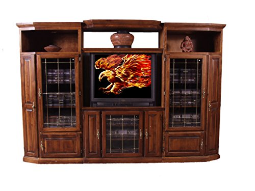 (Forest Designs Traditional Alder TV Stand with Media Storage: 67W x 30H x 21D (TV Stand Only) 67w Whitewash Oak)