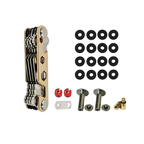 Compact Smart Key Organizer | Compact Key Holder | Keychain Organizer | Bottle Opener | Tools keychain | Great Gift (Gold)