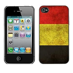 YiPhone /// Prima de resorte delgada de la cubierta del caso de Shell Armor - Alemania Alemán bandera del grunge - iPhone 4 / 4S
