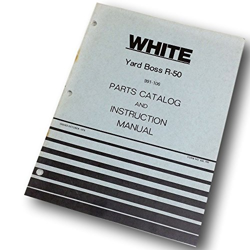 White Yard Boss R-50 Lawn Mower Parts Catalog Instruction Operators Manual