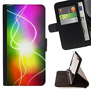 Jordan Colourful Shop - rainbow sun electricity gay For HTC One M7 - Leather Case Absorci???¡¯???€????€??????????&f