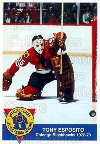 Tony Esposito Hockey Card 1993-94 High Liner Greatest Goalies #8 Tony Esposito