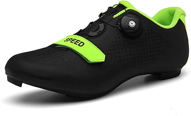 BETOOSEN Men's Women's Breathable Road Bike Cycling Shoes MTB Spin Cycling Shoe with Quick lace Compatible with SPD Cleats