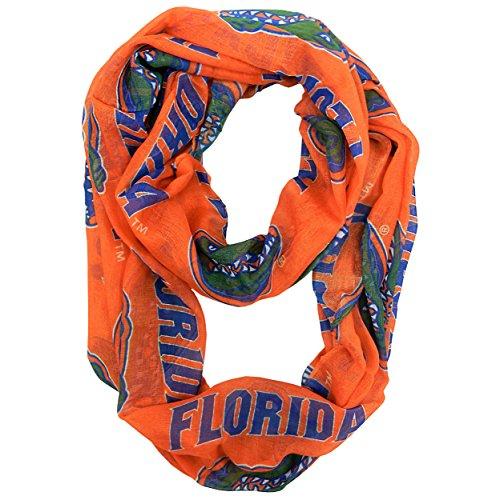 NCAA Florida Gators  Sheer Infinity Scarf - Florida Gators 0.25' Gator