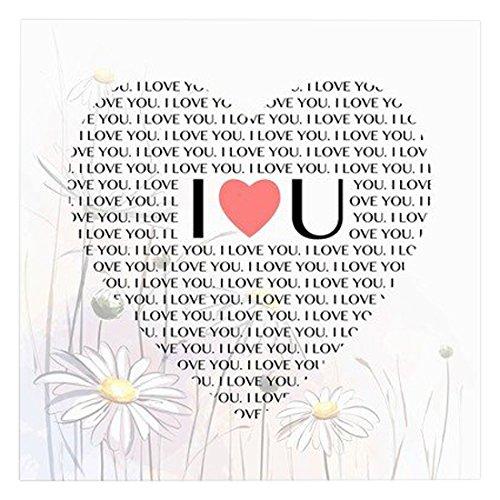 Print Home Décor I Love U Heart Shape Step Repeat 12 L X 12 W