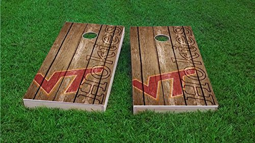 - Tailgate Pro's Virginia Tech Hokies Distressed Cornhole Boards, ACA Corn Hole Set, Comes with 2 Boards and 8 Corn Filled Bags
