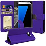 Galaxy S7 Edge Case, Tauri [Stand Feature] Wallet Leather Case with Stand, ID & Credit Card Pockets Flip Cover For Samsung Galaxy S7 Edge - Purple