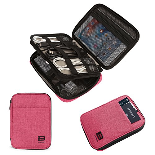 BAGSMART Electronic Organizer Double-Layer Travel Cable Organizer Electronics Accessories Cases for Cables, iPhone, Kindle, USB