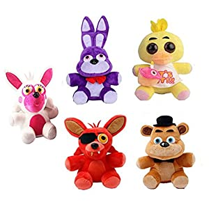 "5"" 5pcs/set Five Nights at Freddy's Plush Stuffed Soft Toys Dolls - 51 2Bo2fIme2L - 5″ 5pcs/set Five Nights at Freddy's Plush Stuffed Soft Toys Dolls"