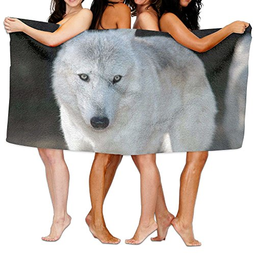 White Wolf Bath Towel Comfortable Beach Bathroom Shower Towel, 31.5'' X 51.2'' Mini Multi-purpose, Ideal For Home And Travel Use by Coco Popcorn