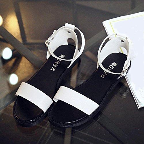 Sonnena Womens Sandals Summer Sandals Women Flat Fashion Sandals Comfortable Ladies Shoes White TJpNHx