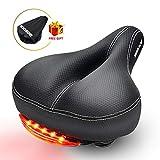 Comfortable Bike Seat SGODDE Memory Foam Padded Leather Wide Bicycle Saddle Cushion