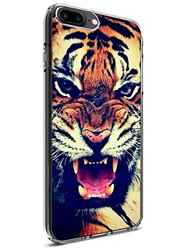 Lakaka Protective Case for iPhone 8 Plus/iPhone 7 Plus 5.5 Inch Powerful Tiger