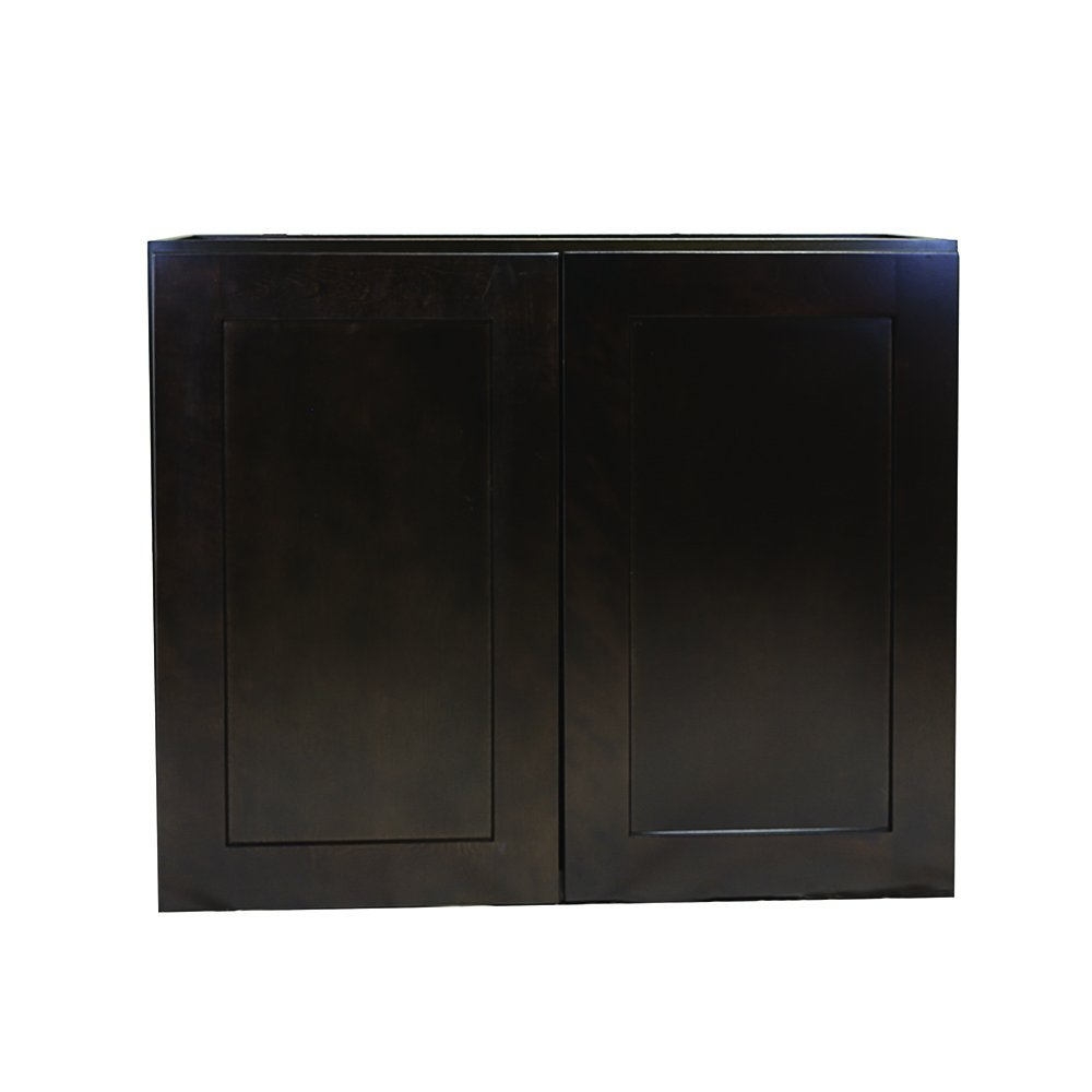 Design House 569012 Brookings Fully Shaker Wall 27x36x12, Espresso Assembled Kitchen Cabinets,