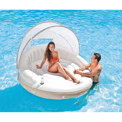 Intex Canopy Island Inflatable Lounge - 78 in. x 59 in.