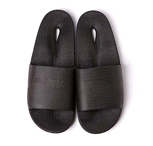 NobS BañO Zapatillas No-Slip Agua BañO Inicio Zapatillas PláStico Pareja Hombre Zapatillas Interior Black