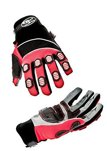 Sport DirectTM BMX Downhill 3M Scotchlite Glove Black/Red Large RRP SHS712RL
