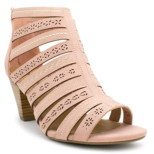 My Delicious Shoes Womens Synthetic Dressy Heel Sandals Pink Nbpu*sc sq5isOq4C2