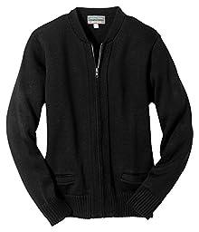 Edwards Heavy Weight Zipper Cardigan With Tuff-Pil Plus, BLACK, 5XLarge