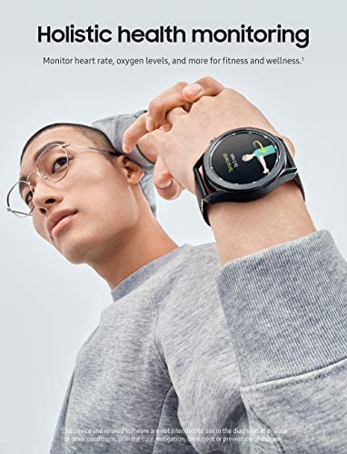 Samsung Galaxy Watch 3 (45mm, GPS, Bluetooth) Smart Watch with Advanced Health Monitoring, Fitness Tracking, and Long lasting Battery - Mystic Silver (US Version) 3