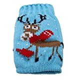 LALANG Sweater Christmas Party Kit,Knitted Knitted Christmas Beer Bottle Cover Christmas Wine Bottle Cover Christmas Party Table Decoration (elk)