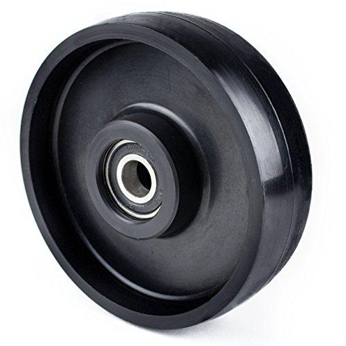 """Pallet Jack Steer Nylon Wheel- 7"""" Diameter x 2"""" Wide 20 mm ID"""