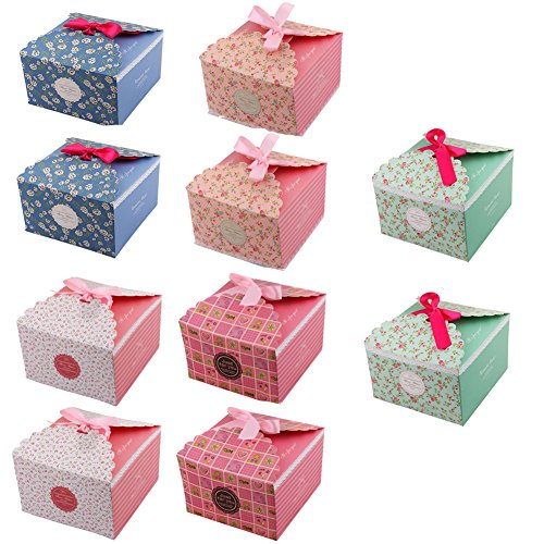 - Dushi Decorative Treats Boxes,Craft Gift Boxes,Recycled Card Party Gift Boxes,Homemade Soaps Gift Boxes for Christmas Birthdays Holidays Weddings Set of 10 Size 5.7