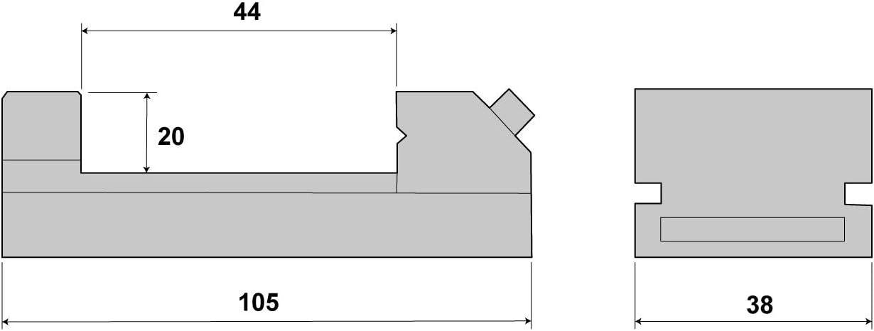 PAULIMOT Niederzugschraubstock 38 mm Backenbreite