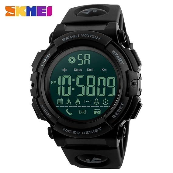 HWCOO Relojes de pulsera Reloj inteligente SKMEI Reloj deportivo Bluetooth al aire libre Compatible con sistema inteligente Android ios Reloj inteligente ...