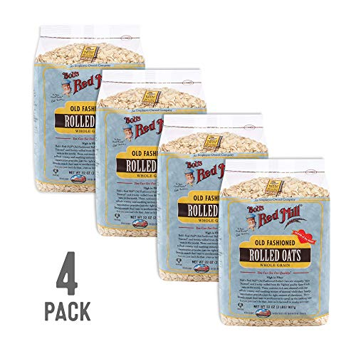 Bob's Red Mill Old Fashioned Regular Rolled Oats, 32 Oz (4 Pack) ()