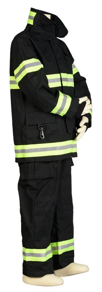 Aeromax Jr. NEW YORK Fire Fighter Suit, Black, Size 8/10. The best #1 - Award Winning firefighter suit. The most realistic bunker gear for kids ...
