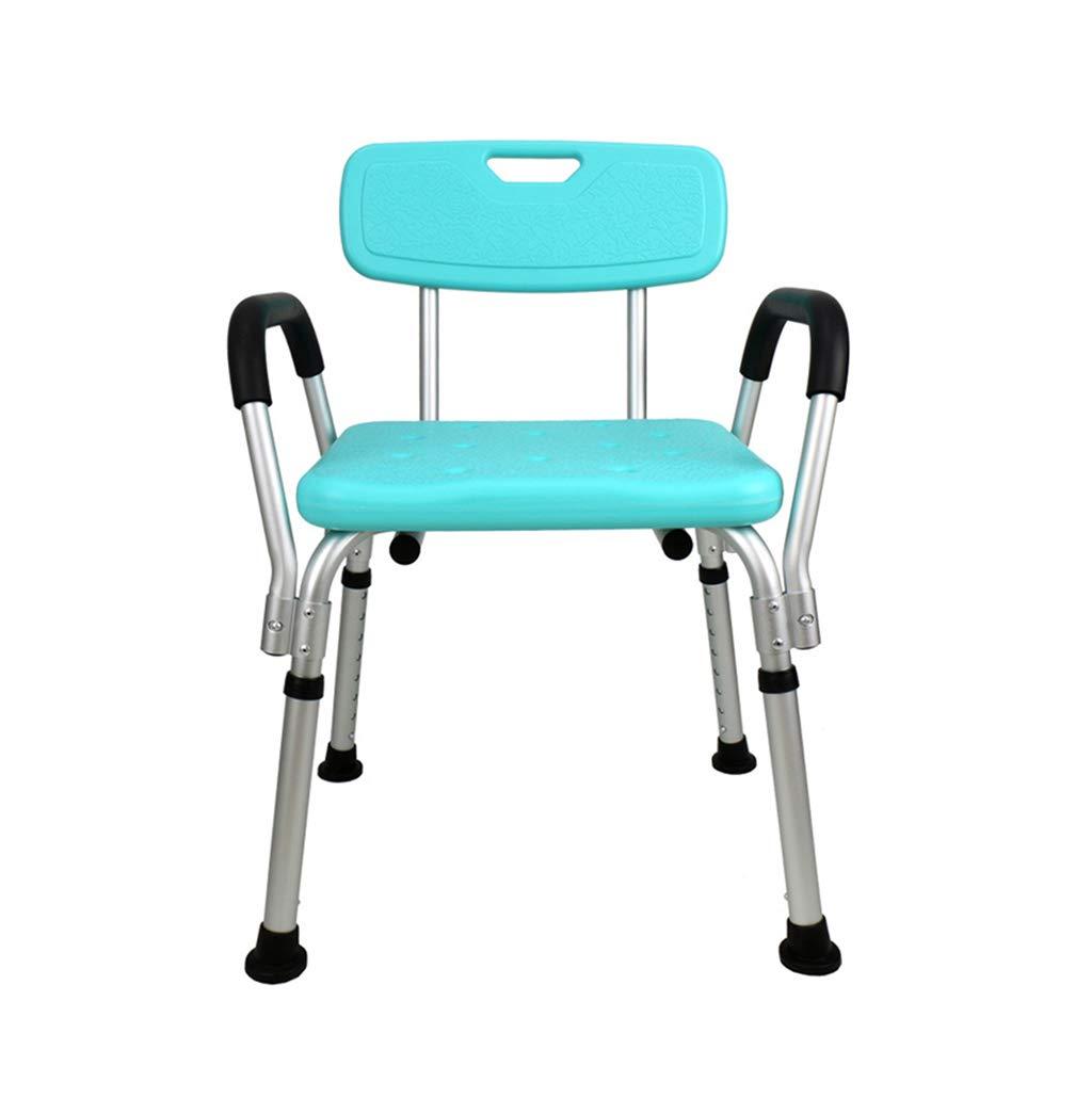 バススツール アルミ合金シャワースツール/バスシートアルミニウム合金バスシートベンチ(脱着式背もたれ&高齢者用&障害者用椅子、180kg) 滑り止めシャワーシートスツール   B07K5745FP