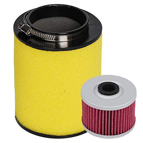 HIFROM Air Filter Element Cleaner 17254-HP5-600 with Oil Filter for Honda Rancher TRX420 TRX420FE TRX420FM TRX420TE TRX420TM 2007-2013