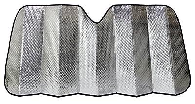 Majic Standard Accordion Sunshade Car Windshield Sun Shade Reflector, Silver