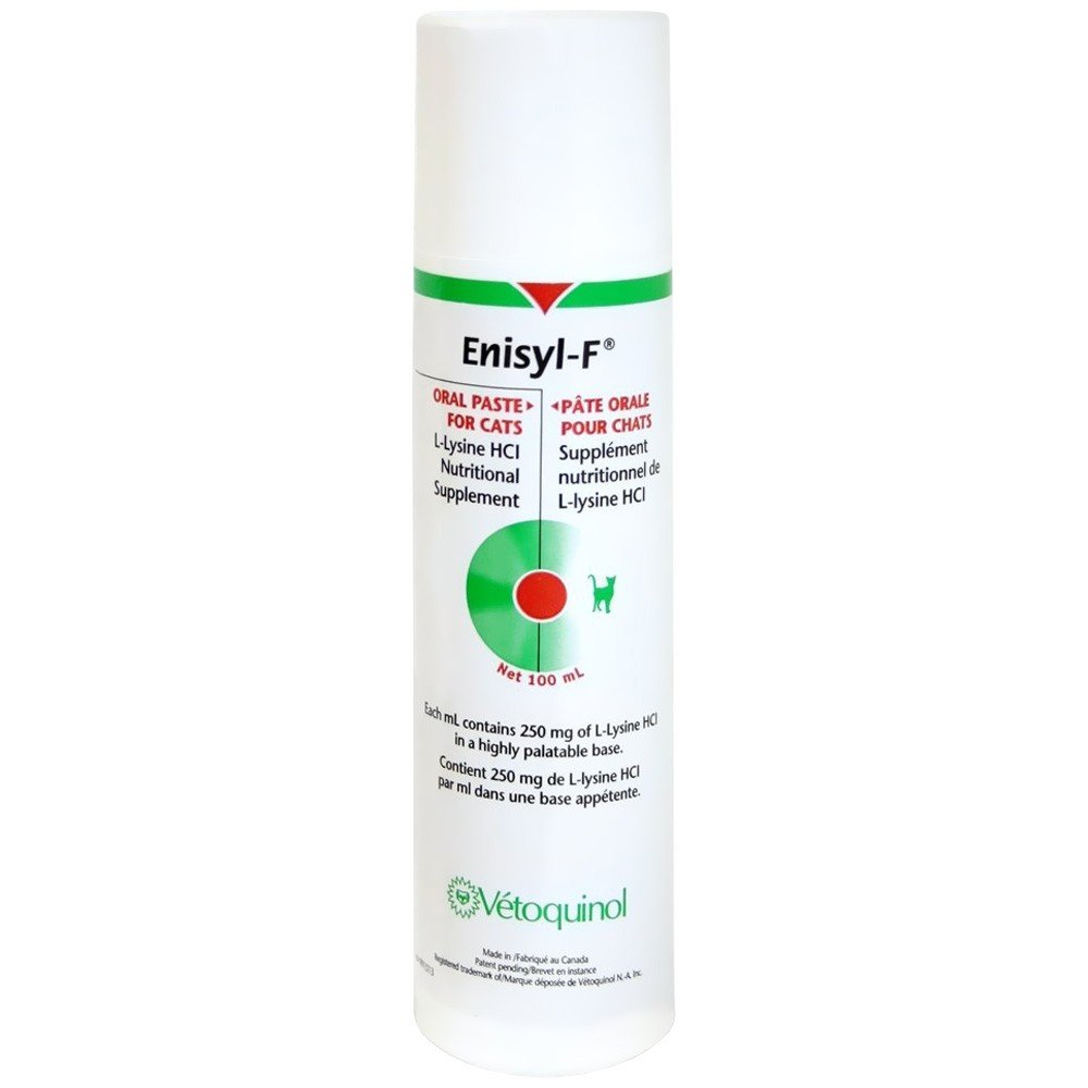 Vetoquinol Enisyl-F Oral Paste: L-Lysine Supplement for Cats - Tuna Flavor, 3.4oz (100mL) Pump