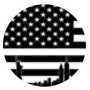 alfombrilla de ratón EE.UU. Negro bandera de New York City del vector - ronda - 20cm