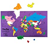 Imagimake Mapology: World - Educational Toy and Learning Aid for Boys and Girls-Map Puzzle-Jigsaw puzzle
