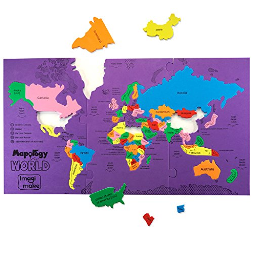 (Imagimake: Mapology World- World Map and Its Countries- Learning Aid & Educational Toy- Jigsaw Puzzle- for Kids Age 4 and Above)