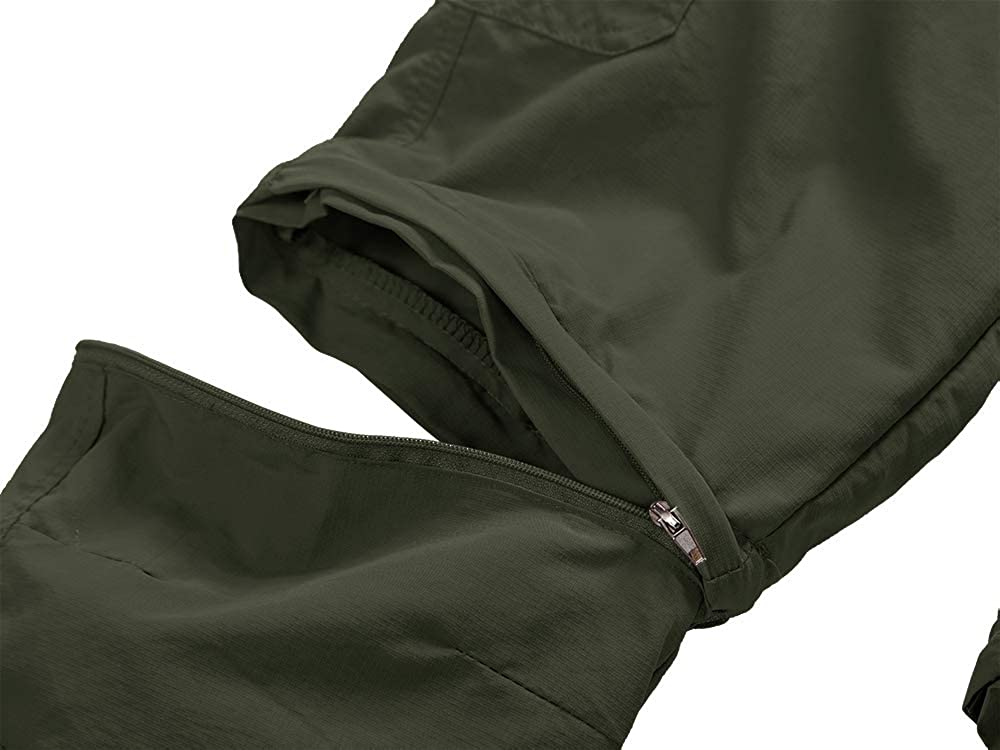 Kids Boys Youth Outdoor Quick Dry Lightweight Cargo Pants Hiking Camping Fishing Zip Off Convertible Trousers